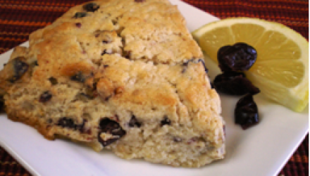 Lemon Scone with Dried Cranberries
