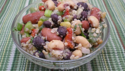 Four Bean Salad with Sun Dried Tomatoes