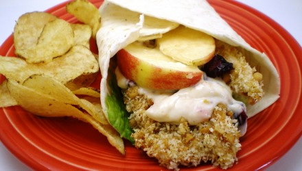 Dried Cranberry and Apple Chicken Wraps