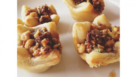 Baklava Tartlets with Fig and Walnuts